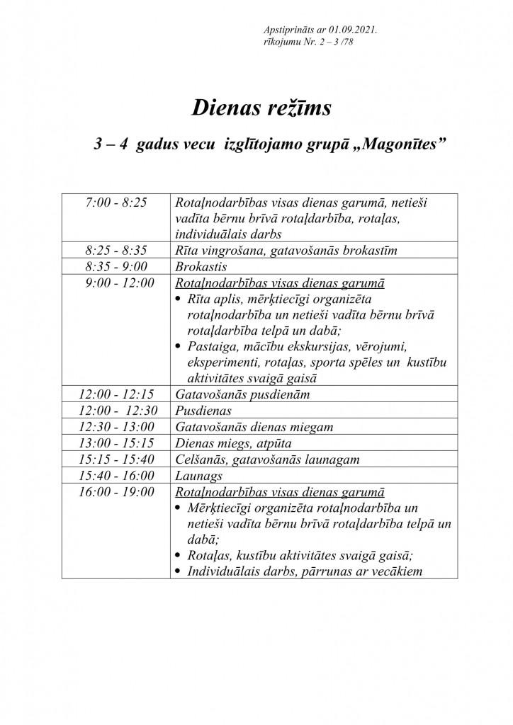 MAGONĪTES dienas režīms-1