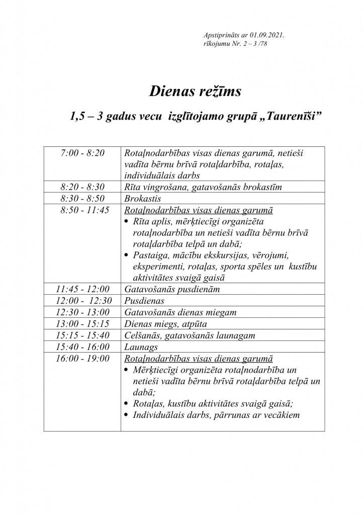 TAURENĪŠI dienas režīms-1