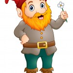 cartoon-happy-gnome-holding-a-flower-vector-21580353